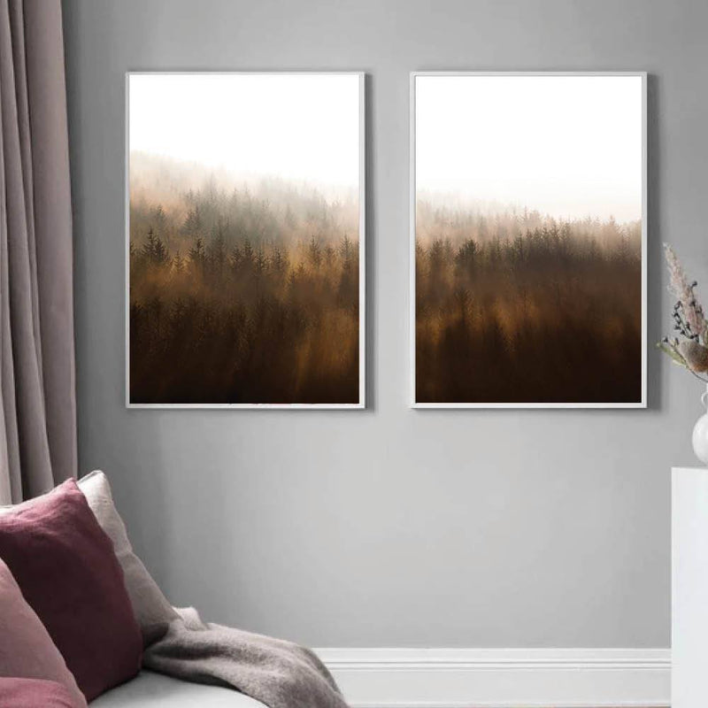 Misty Autumn Canvas - Nordvian Modern Nordic Decor (Art - )