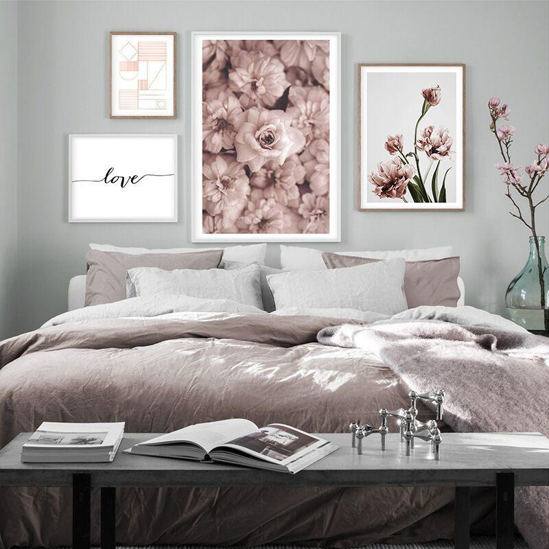 Rose Tones Print Collection - Nordvian Modern Nordic Decor (Painting & Calligraphy - Art + Prints, not-hanger)