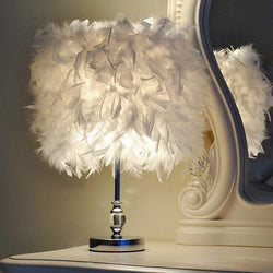 Luxury Feather Crystal Lamp - Nordvian Modern Nordic Decor (Lamp - )