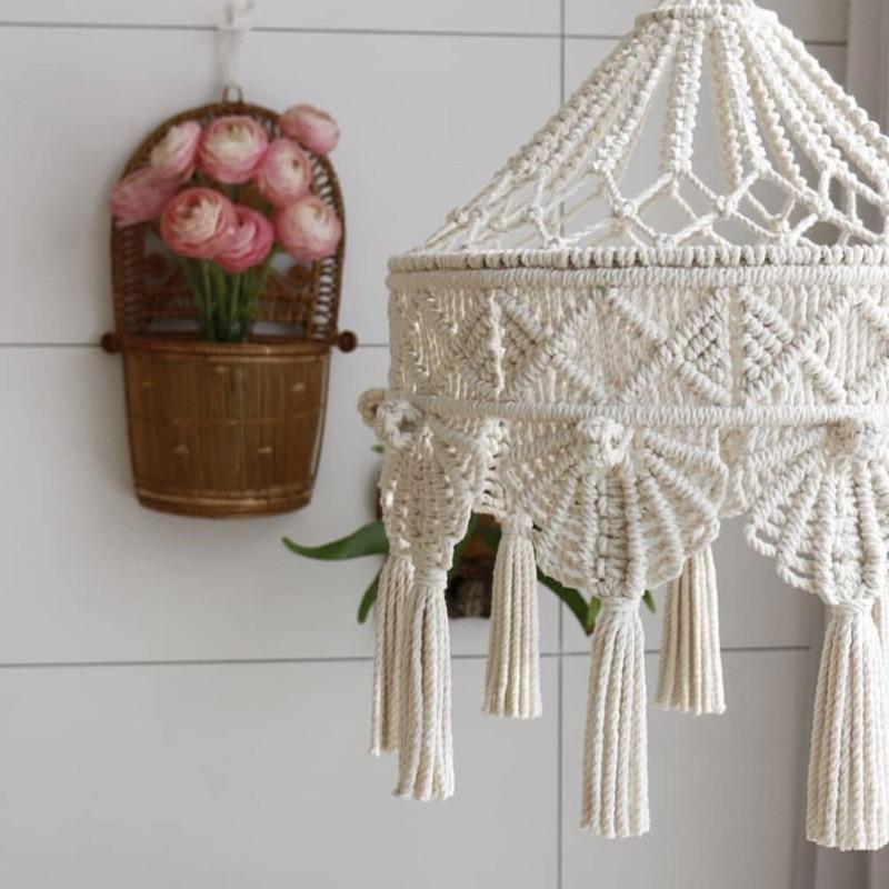 Regal Macramé Chandelier Cover - Nordvian Modern Nordic Decor (Tapestry - Macramé, not-hanger)