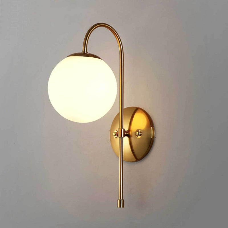 Curved Gold Iron Wall Lamp (Large) - Nordvian Modern Nordic Decor (light - )