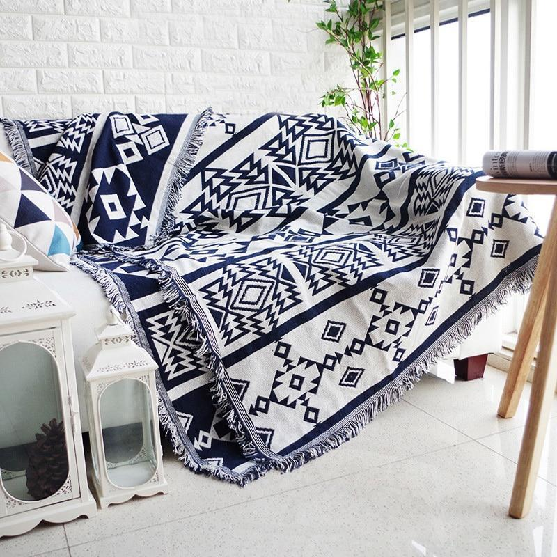 Geometric Throw Blanket - Nordvian Modern Nordic Decor (Blankets - Blanket, Living Room, New, not-hanger)