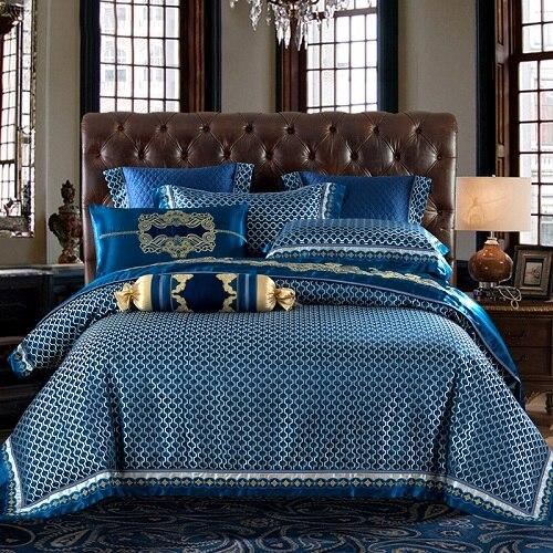 Bartedo Silk Satin Luxury Royal Duvet Cover Set - Nordvian Modern Nordic Decor ( - Bartedo, Bedding, Luxury, Royal, Satin, set, Silk)