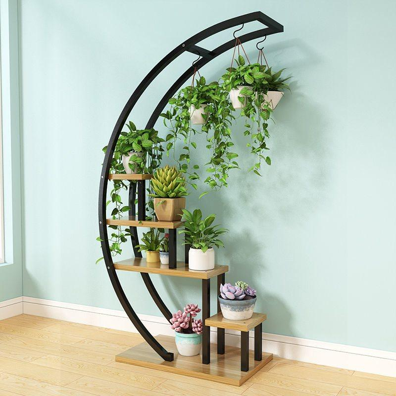 Elise - Decorative Crescent Plant Stand - Nordvian Modern Nordic Decor (Decorative Shelves - )
