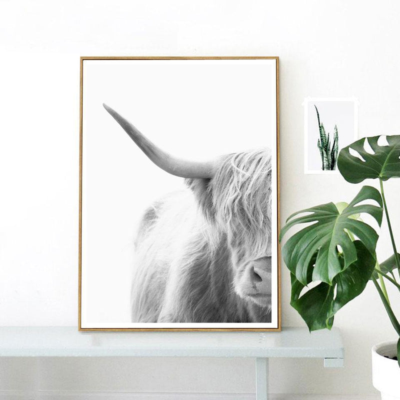 Nordic Mysterious Bull Print - Nordvian Modern Nordic Decor (Painting & Calligraphy - Art + Prints, not-hanger)