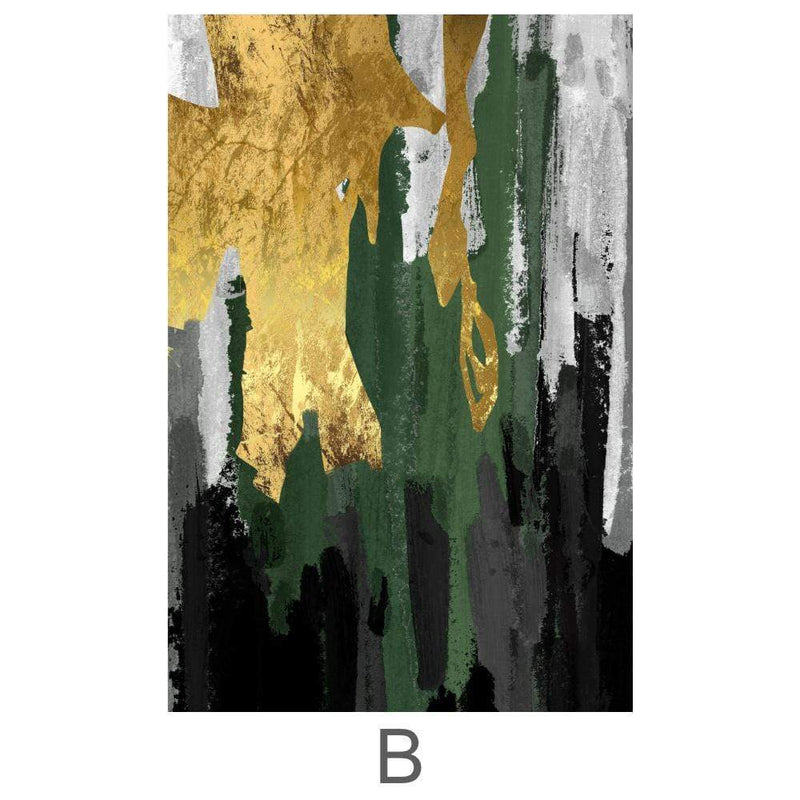 The Abstract Curtain Canvas - Nordvian Modern Nordic Decor (Art - )