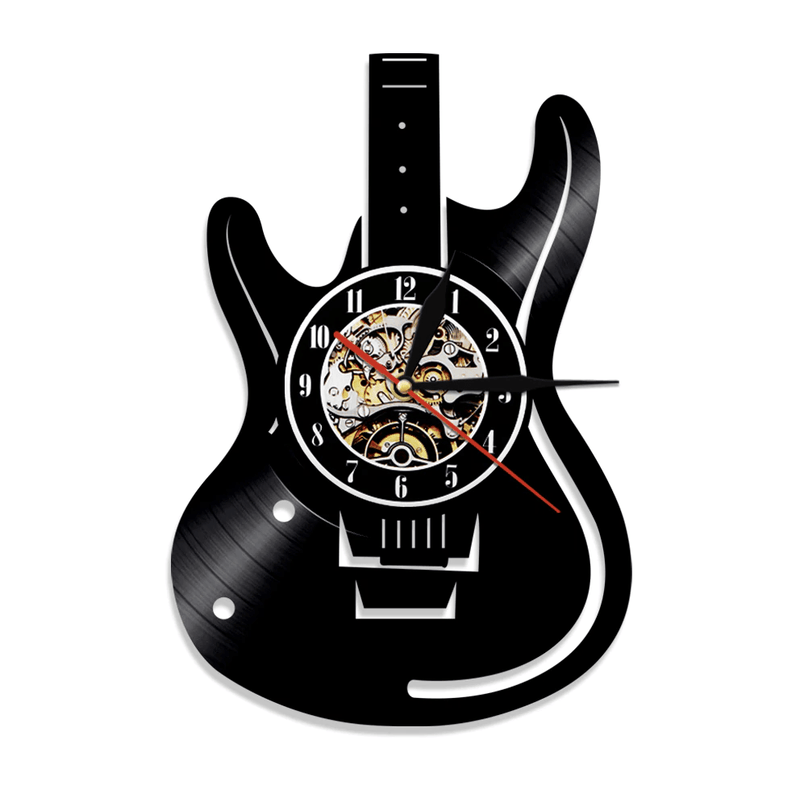 Electric Guitar Vinyl Clock - Nordvian Modern Nordic Decor ( - )
