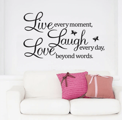Live Laugh Love Wall Sticker - Nordvian Modern Nordic Decor ( - )