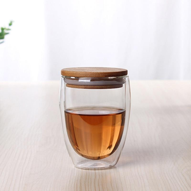 Double Glass Cup with Cover - Nordvian Modern Nordic Decor (cup - )