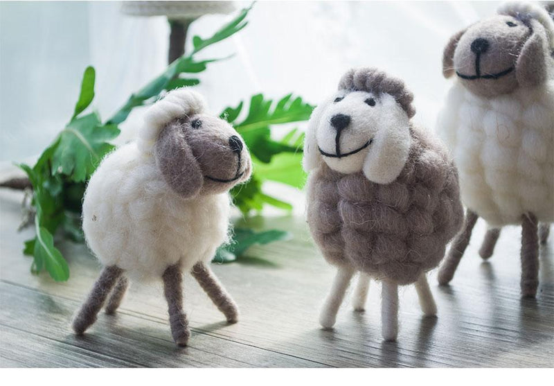 Mini Wool Sheep Craft - Nordvian Modern Nordic Decor (accessories - )