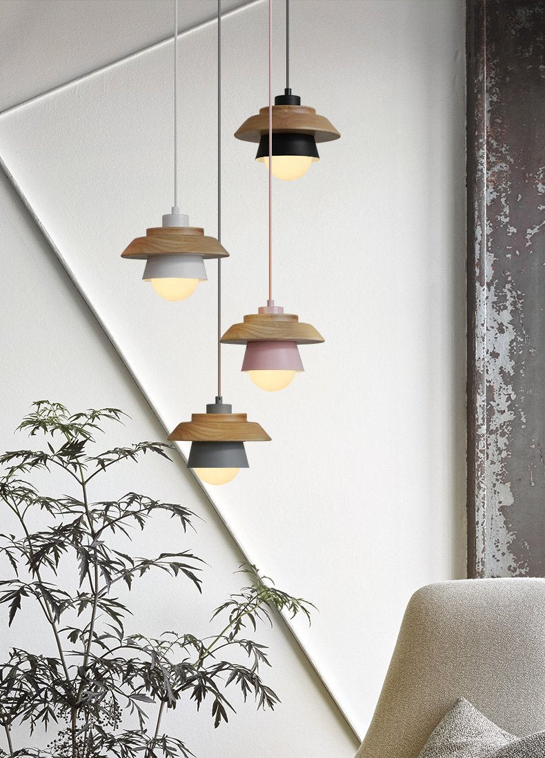 Wooden Top Creative Pendant Lights - Nordvian Modern Nordic Decor (light - )