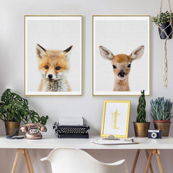 Soft Brown Animals - Nordvian Modern Nordic Decor (wall art - )