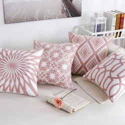 Pink Classic Embroidery Cushions - Nordvian Modern Nordic Decor (cushion - )