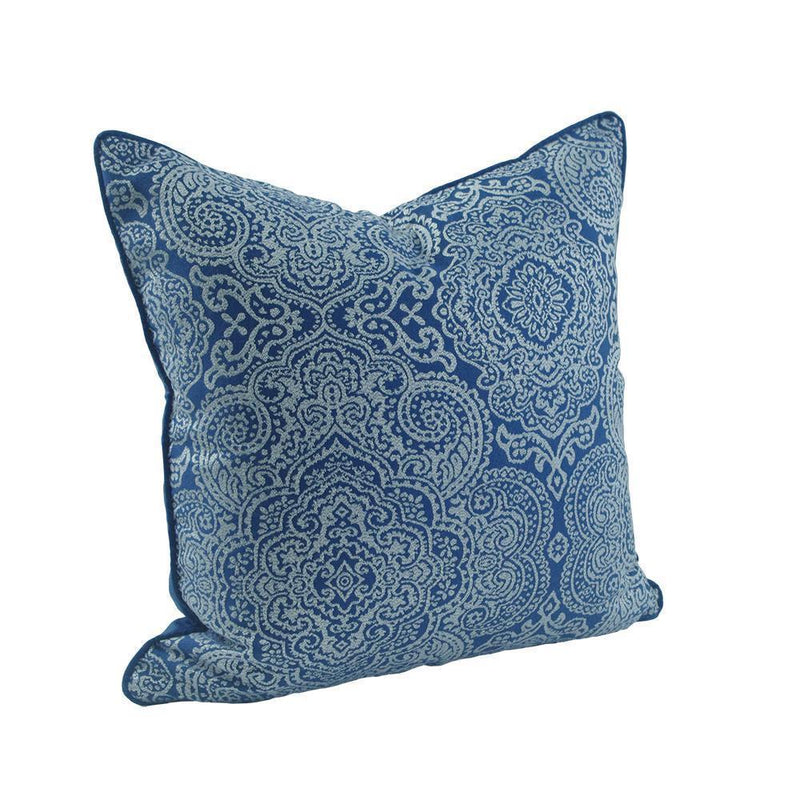 Classic Patterned Blue Cushion Cover - Nordvian Modern Nordic Decor (Cushion - )