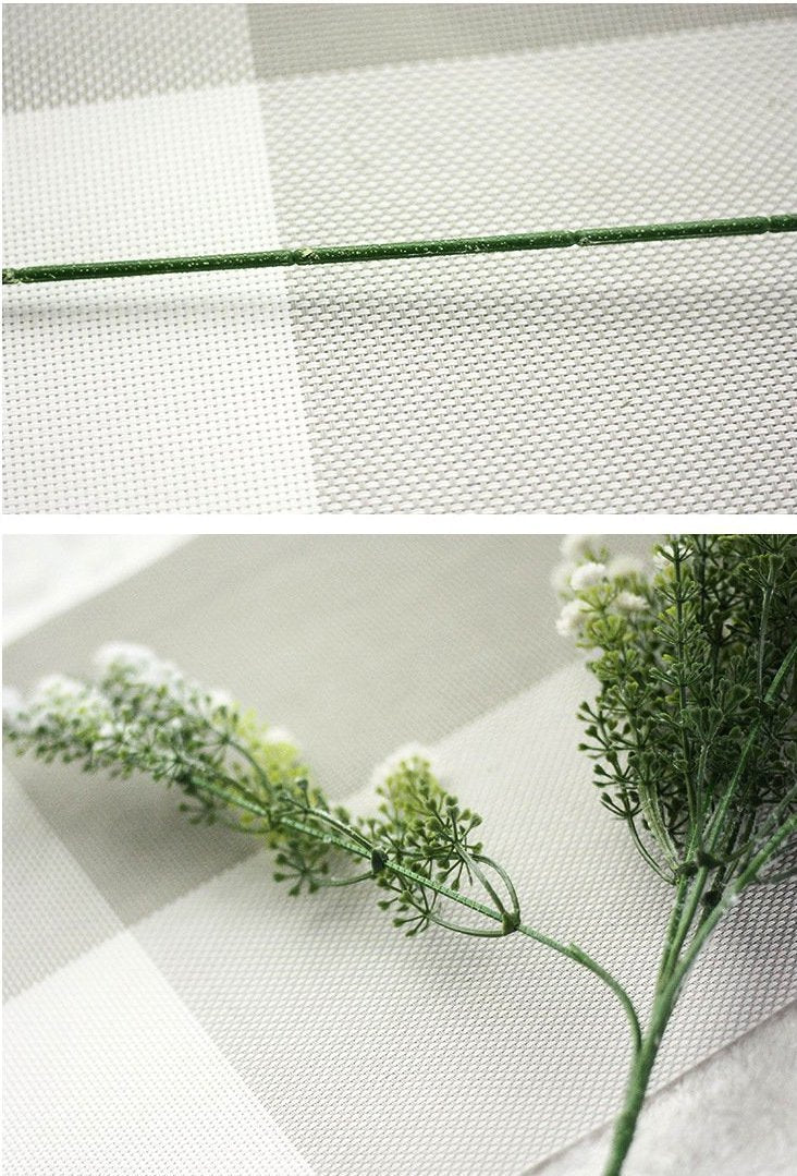 Snow Sprayed Baby Breath Branch - Nordvian Modern Nordic Decor (plant - )