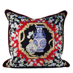 Vintage China Vase Cushion - Nordvian Modern Nordic Decor (cushion - )