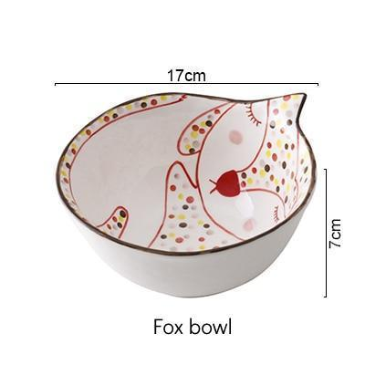 Animal Drawing Dinnerware - Nordvian Modern Nordic Decor (dinnerware - )