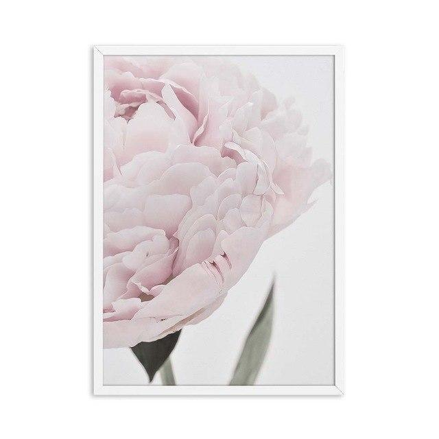 Romantic Close-up Peony - Nordvian Modern Nordic Decor (wall decor - )