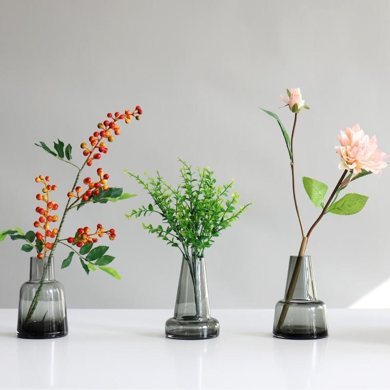 Grey Tones of Glass Vases - Nordvian Modern Nordic Decor (vase - )