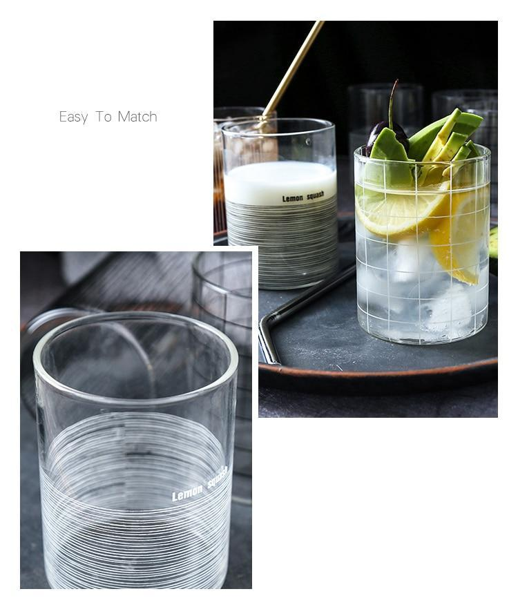 Grid Glass Cup - Nordvian Modern Nordic Decor (cup - )