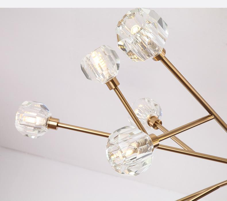 Crystal Shade Branch Chandelier - Nordvian Modern Nordic Decor (Light - )