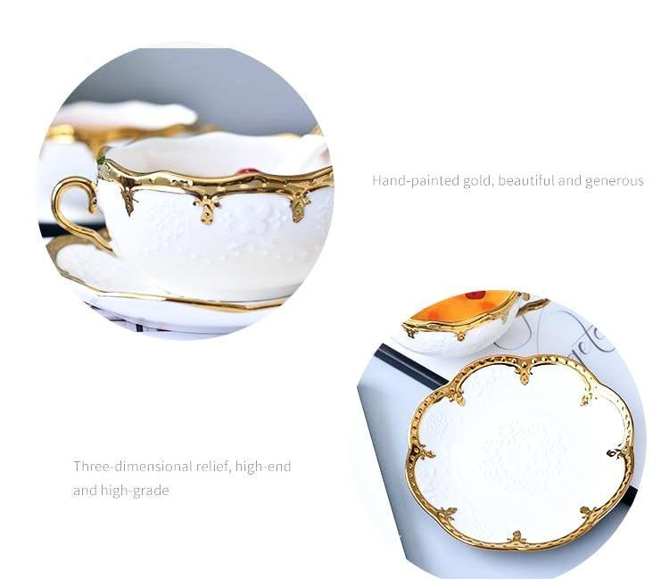 Golden Soup Bowl - Nordvian Modern Nordic Decor (tableware - )