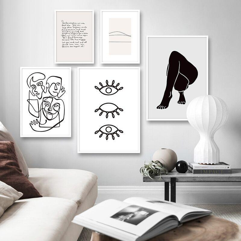 Bold Body Abstract Print Collection - Nordvian Modern Nordic Decor (Painting & Calligraphy - Art + Prints, not-hanger)