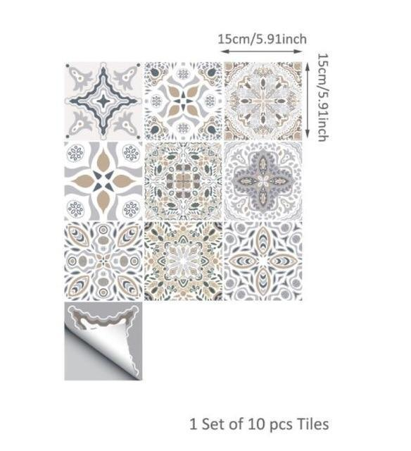 Fifty Shades Moroccan Tiles - Nordvian Modern Nordic Decor (Wall Stickers - not-hanger)
