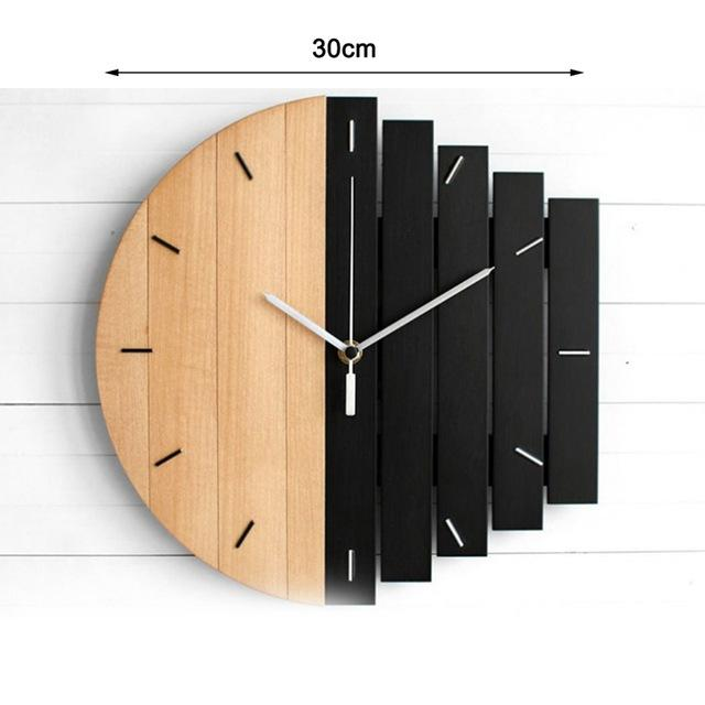 Wooden Vintage Wall Clock - Nordvian Modern Nordic Decor (Wall Clocks - )