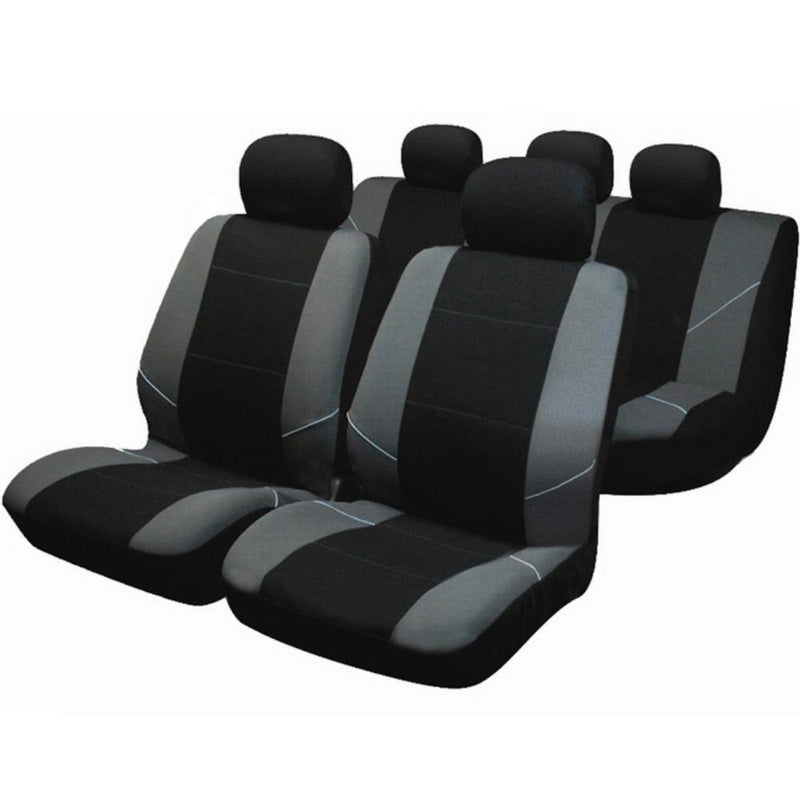 Sakura Merton Seat Covers Black & Grey - Full Set