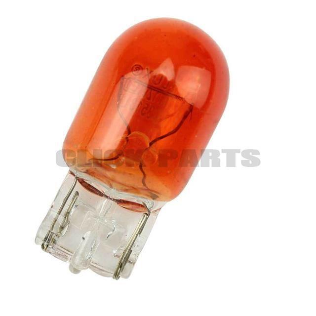 382WA / 585 Amber 12V 21W Indicator Wedge Bulbs (Pack of 10)