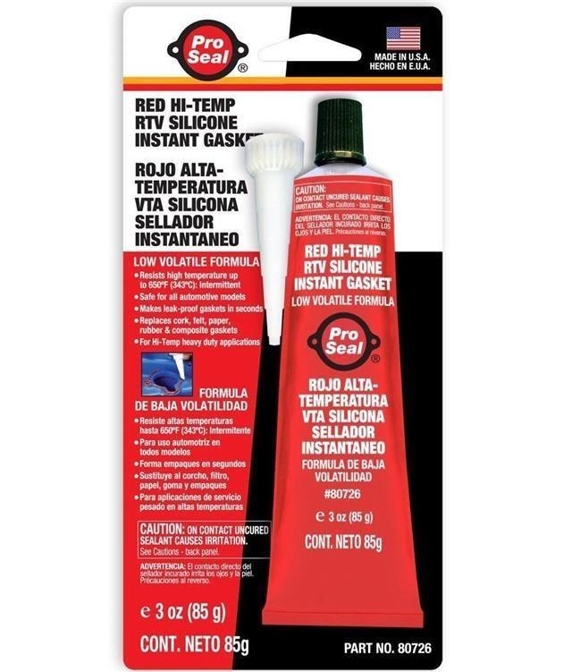Pro Seal Red Hi-Temp RTV Silicone Instant Gasket 85g