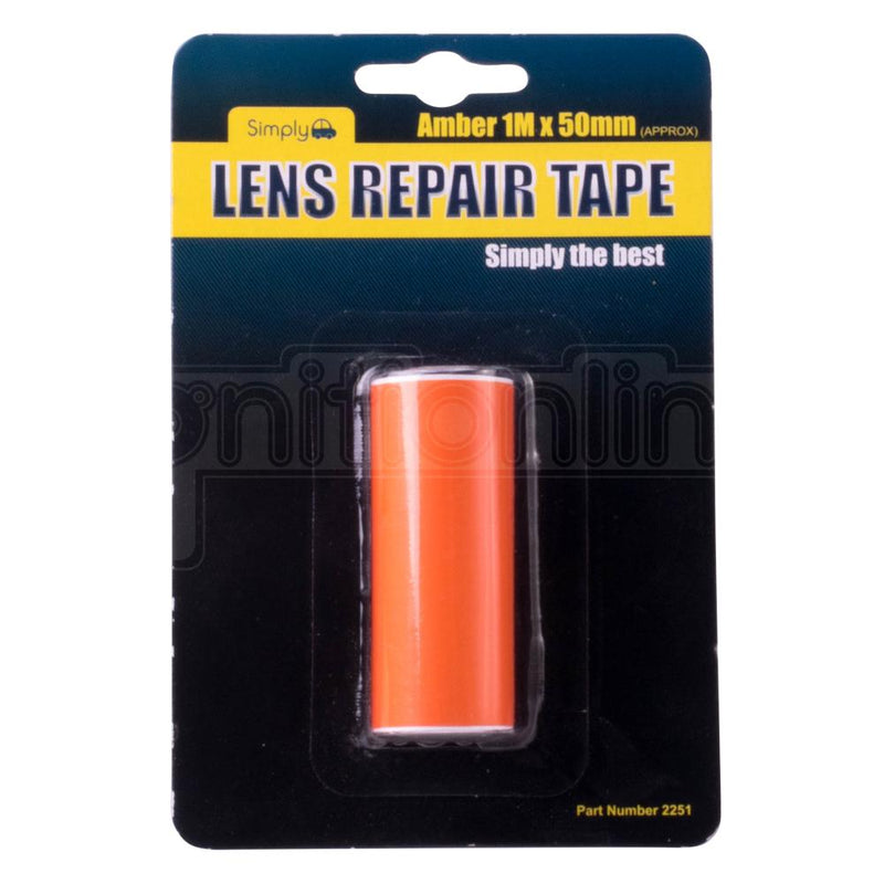 Simply Lens Repair Tape Amber 1M x 50mm