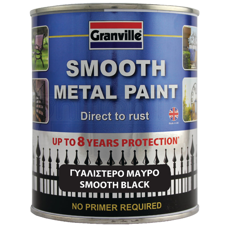 Granville Smooth Metal Paint - Black 750ml