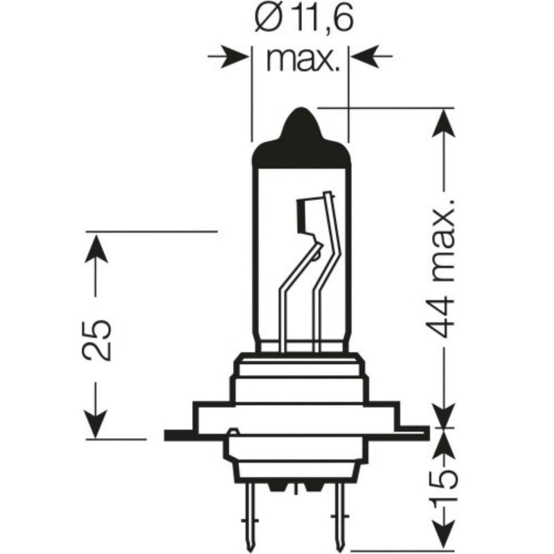 H7 499 12V 55W Halogen Headlight Bulb
