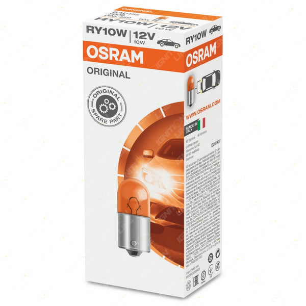 OSRAM Original 245FY 10V RY10W Amber Indicator Bulbs (Pack Of 10)