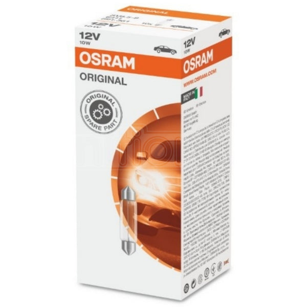 OSRAM 265 C10W 12V ORIGINAL Festoon Bulbs (Pack of 10)