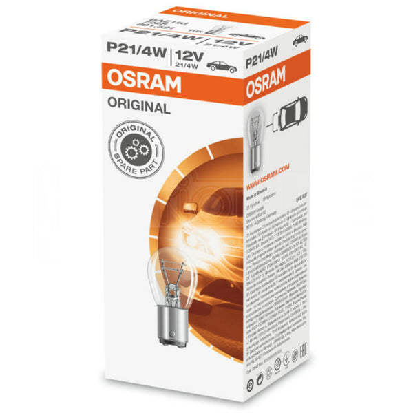 OSRAM 566 12V P21/4W ORIGINAL Bayonet Bulbs BAZ15d (Box of 10)