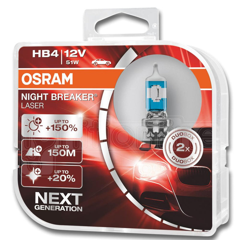 HB4 OSRAM Night Breaker Laser Next Generation 12v 51w Headlight Bulbs  (Twin Pack)