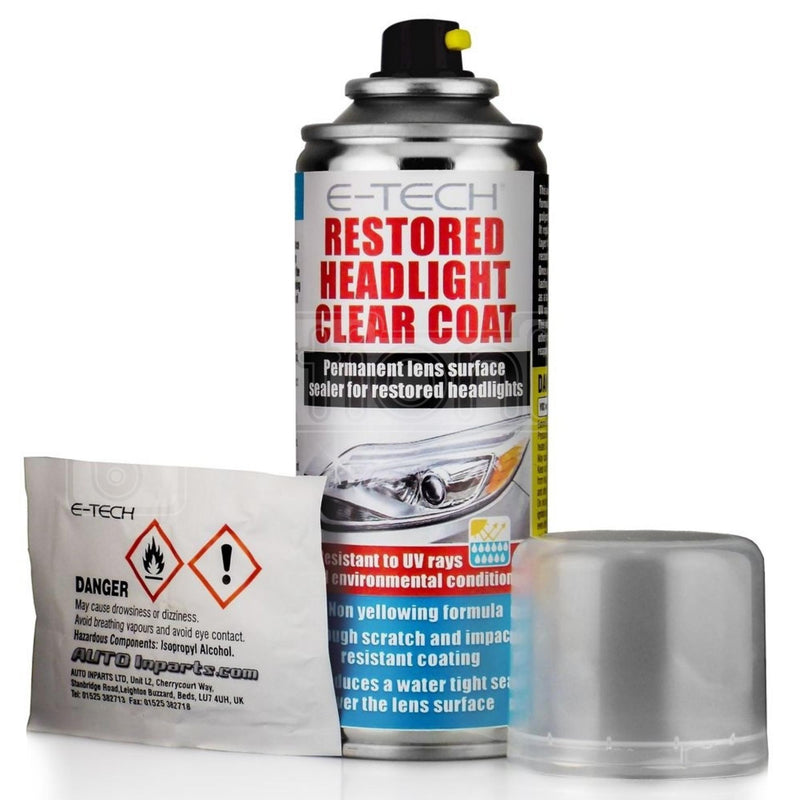 E-TECH Restored Headlight Clear Coat 200ml