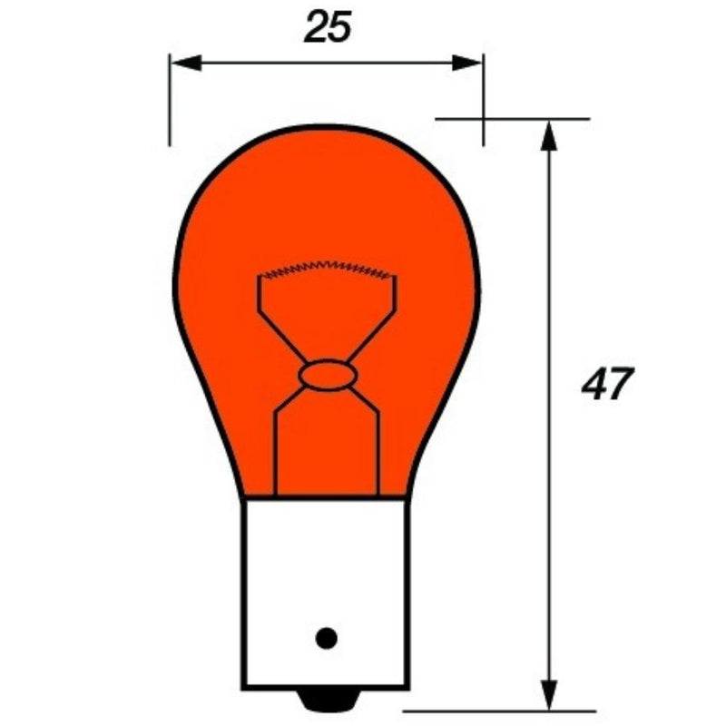 382 Amber 12V 21W Bayonet Bulbs (Pack of 2)