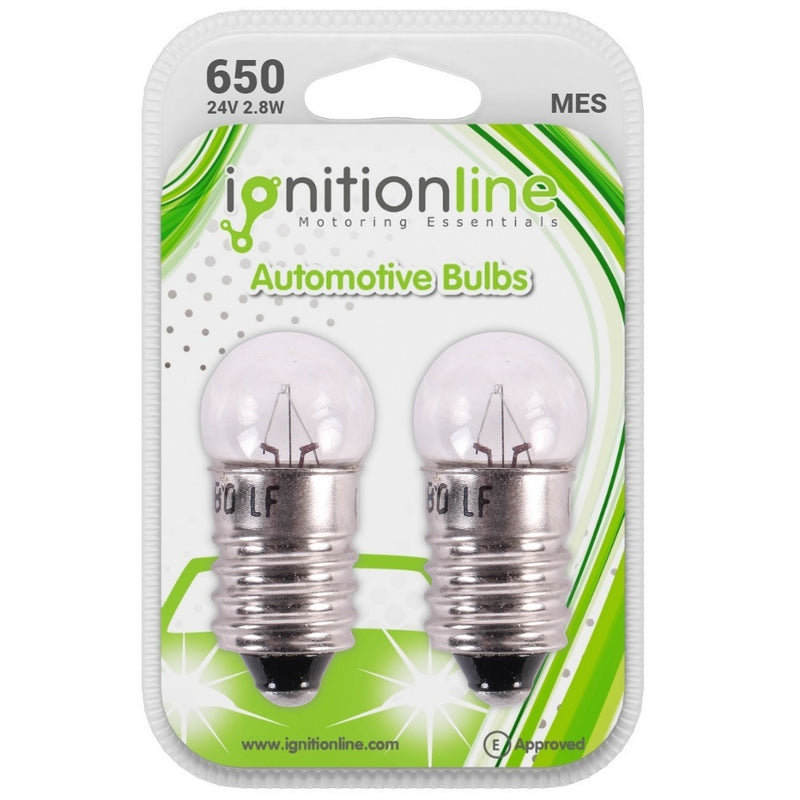 IgnitionLine 650 24V 2.8W Screw Bulbs (Twin Pack)