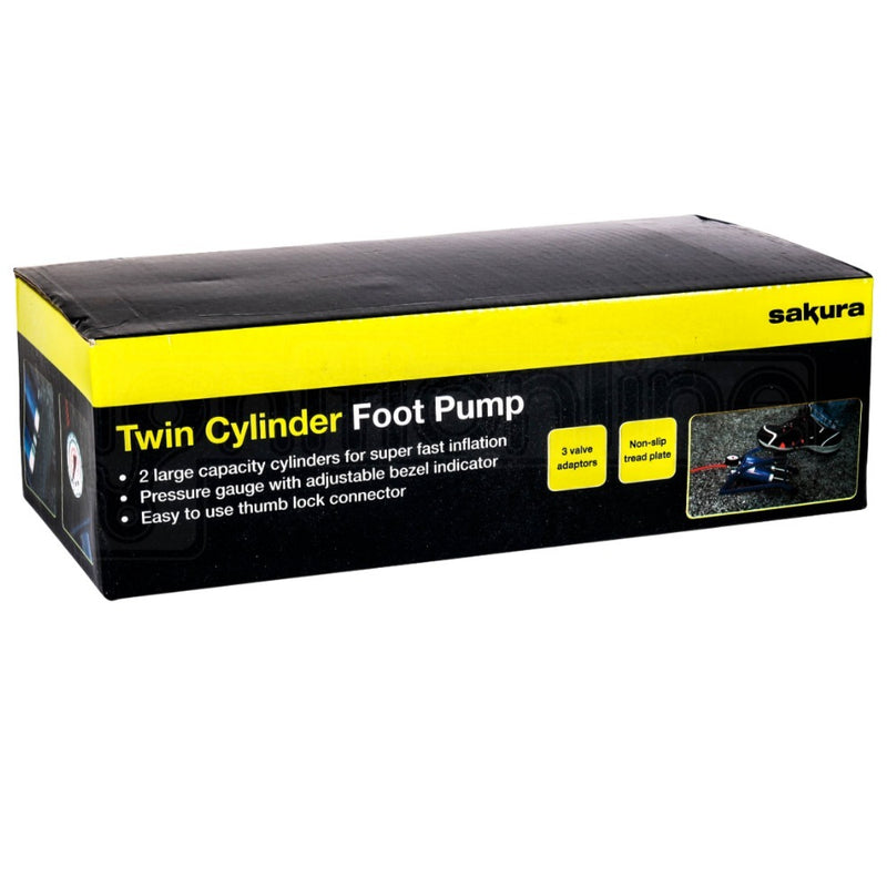 Double Cylinder Foot Pump