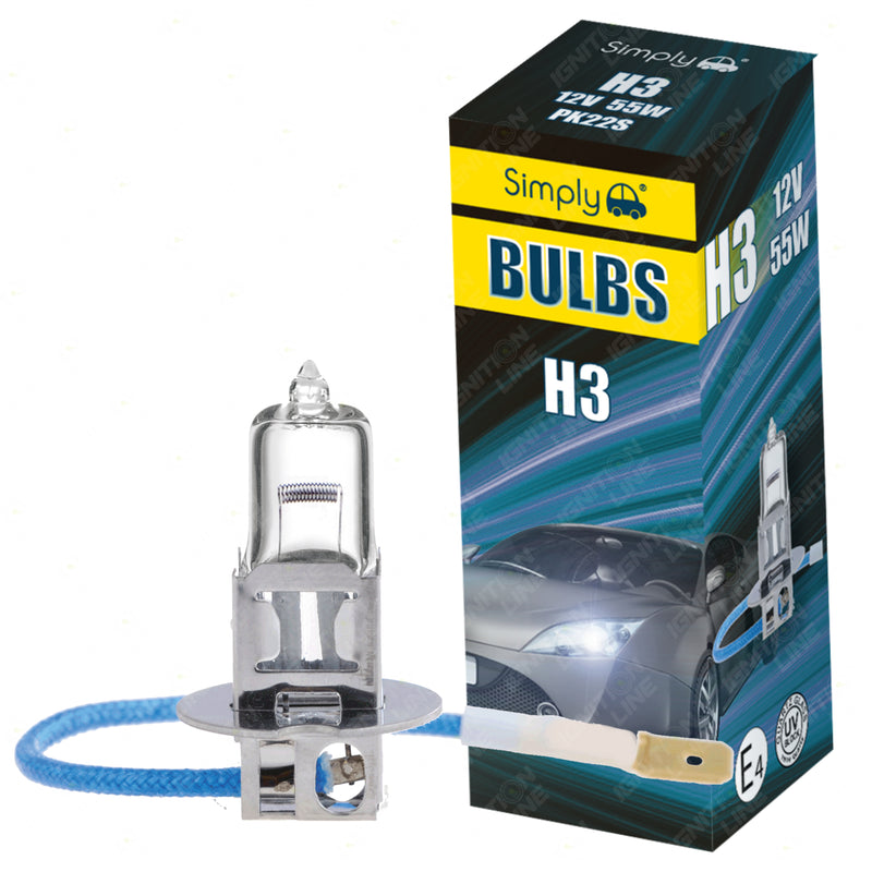 H3 453 12V 55W Halogen Headlight Bulbs