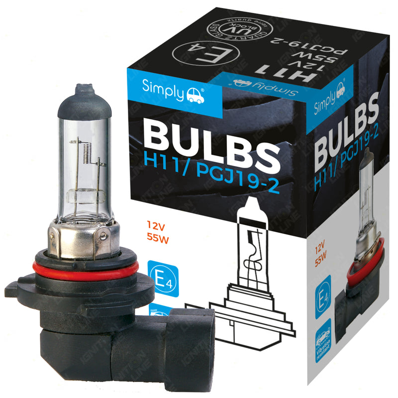 H11 12V 55W Halogen Headlight Bulb