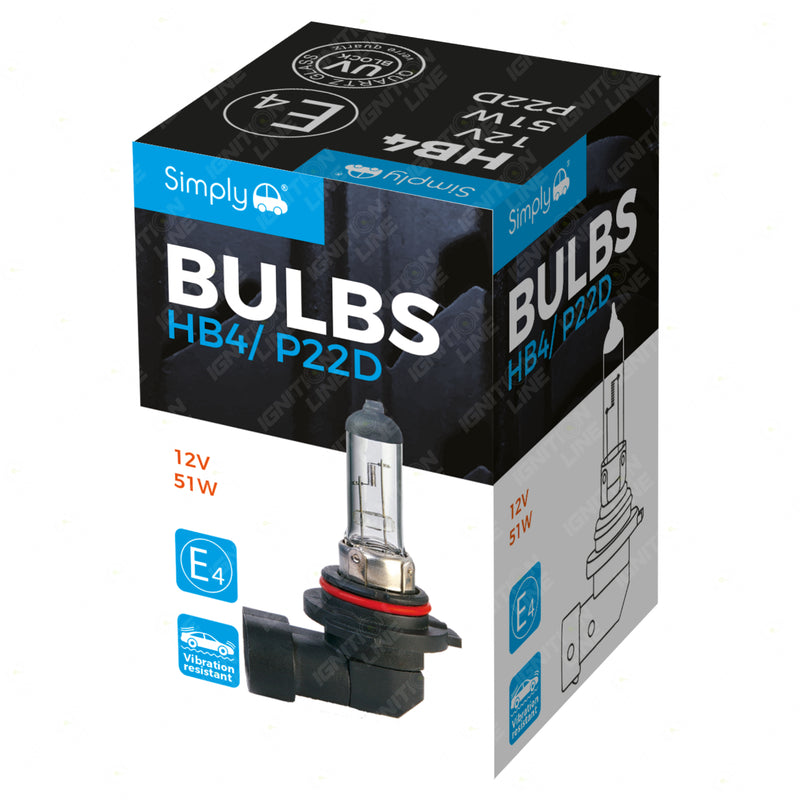 HB4 9006 12V 51W Halogen Headlight Bulb