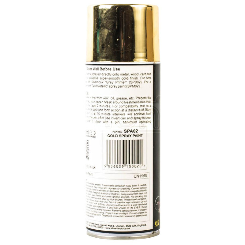 Silver Hook Gold Spray Paint 400ml
