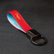 Imperial Red & Sky Blue Key Ring