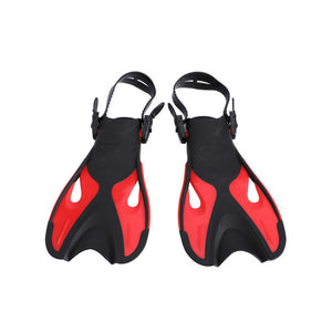 Adjustable Super-soft Comfortable Snorkeling Swimming Fins Long Flippers Diving Training Equipment for Children Kids Adults A