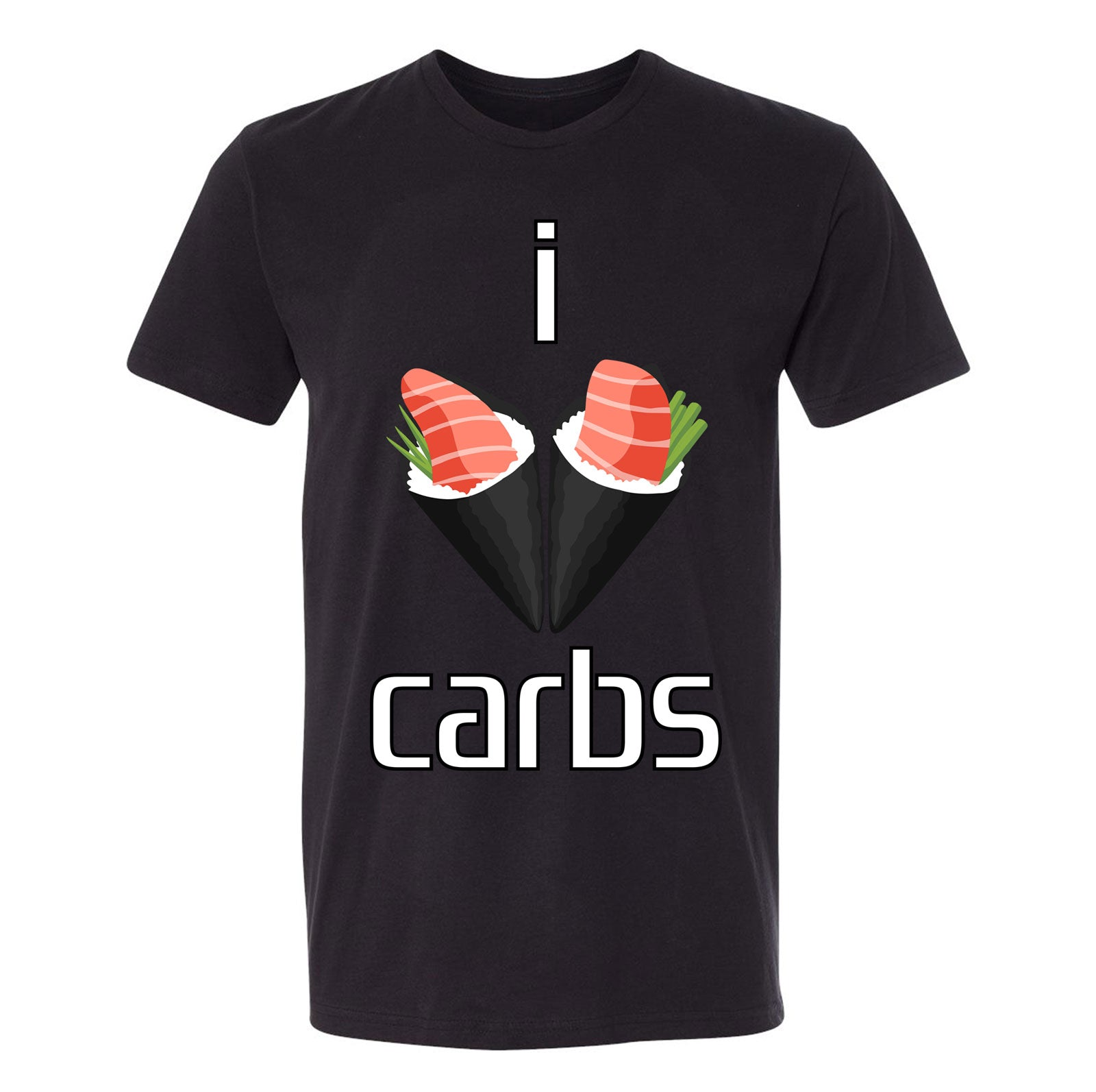 I Love Carbs Sushi Tee (Black)